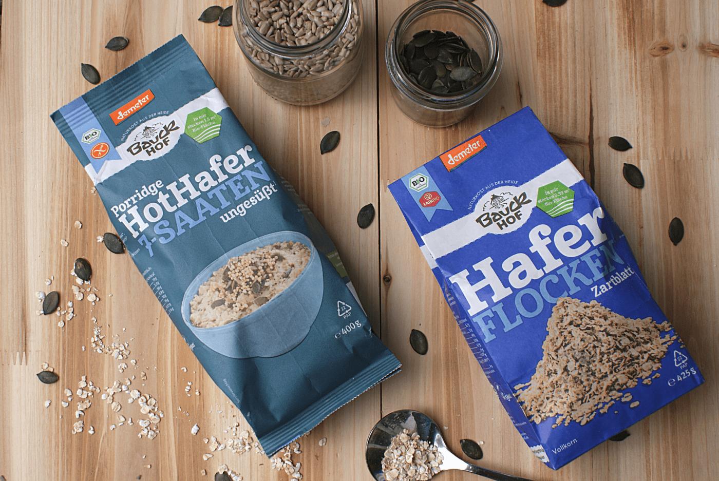 Haferflocken und Porridge von Bauck Hof