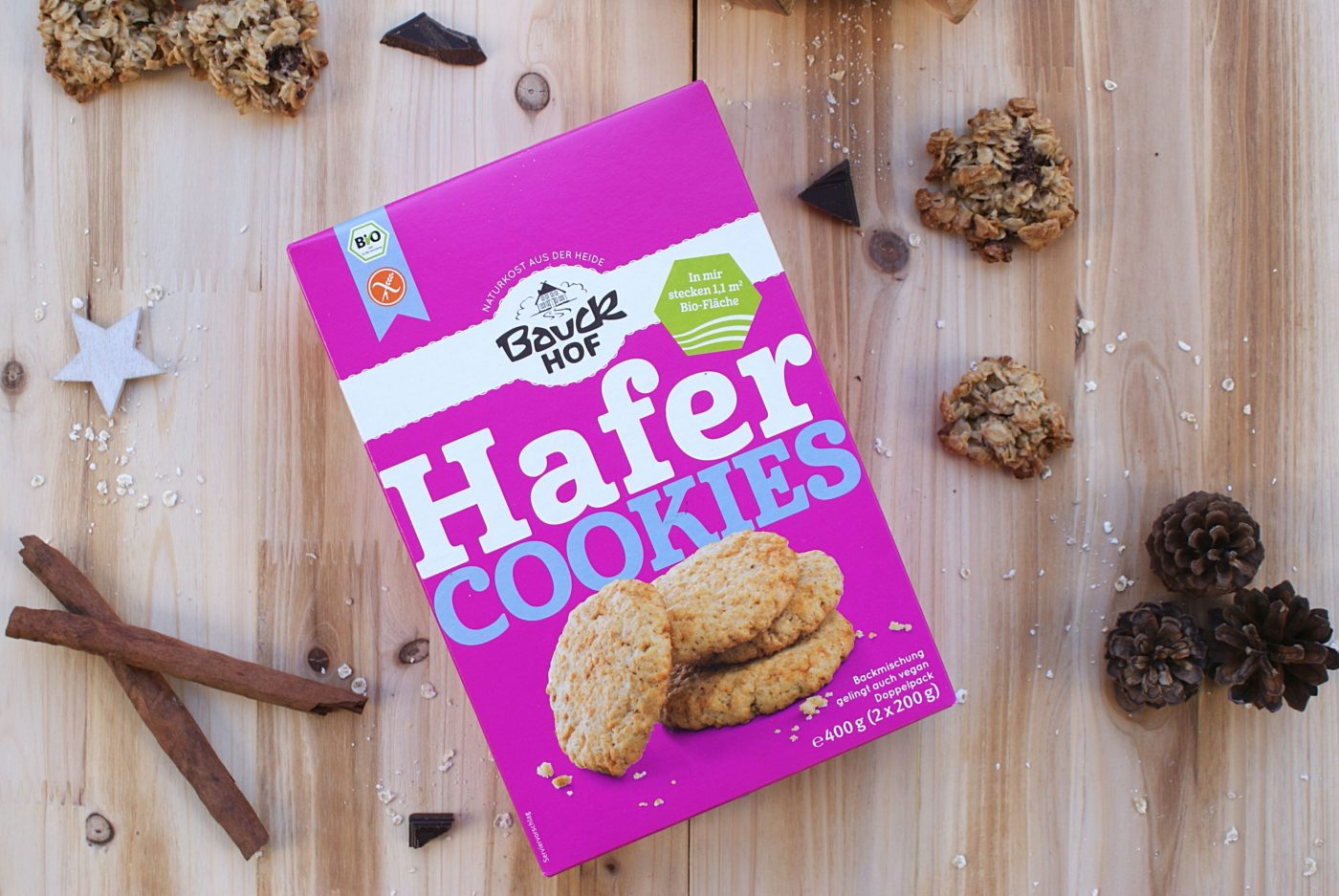 Weihnachten Stress vermeiden mit Hafer Cookies Backmischung