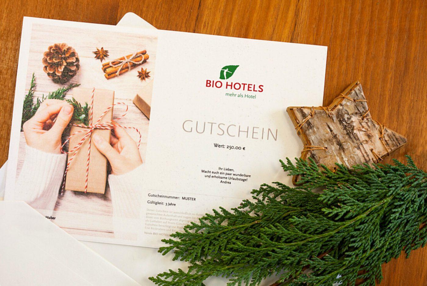 Bio Hotels Gutschein 250€