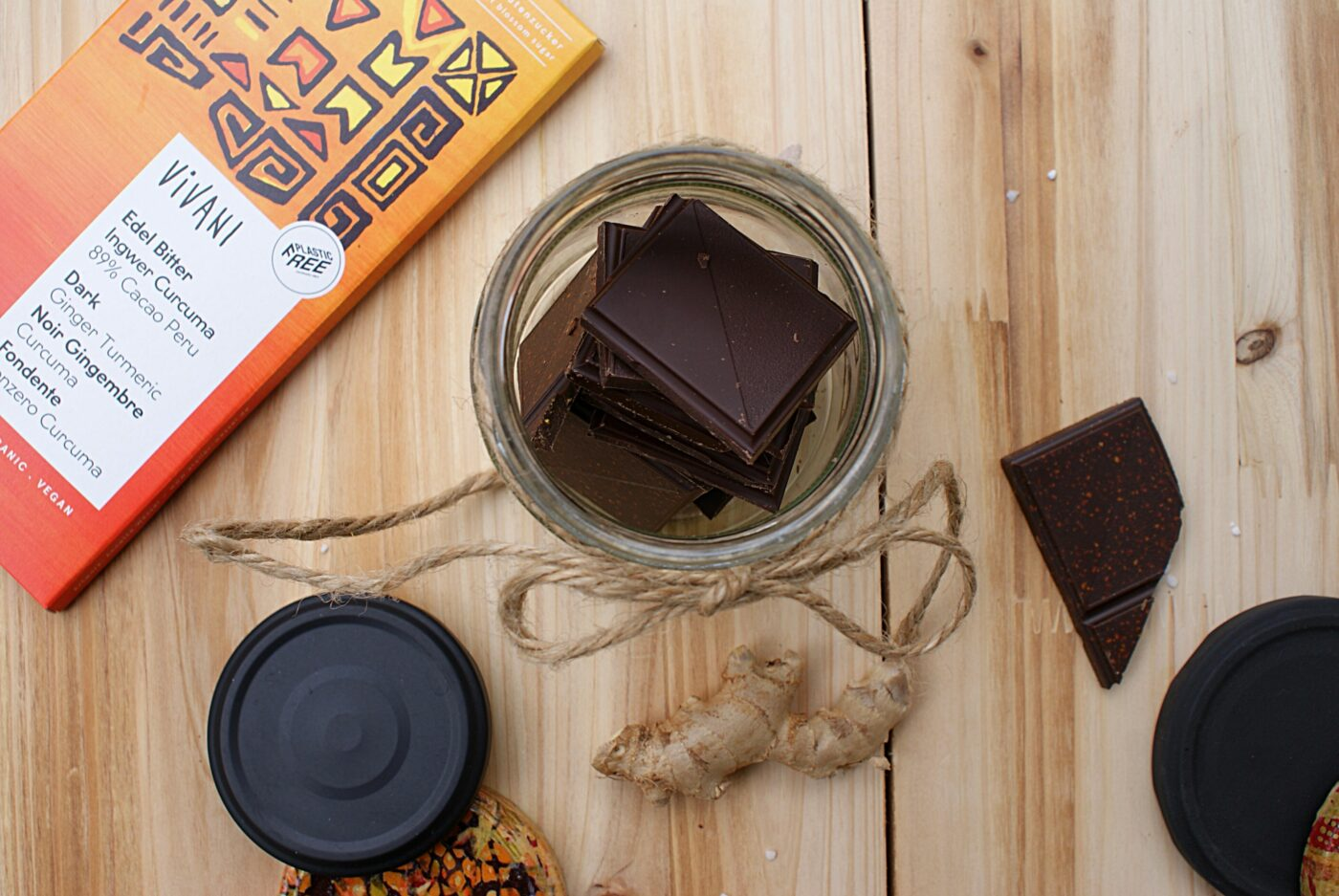Achtsamkeitsübung Schokolade im Glas