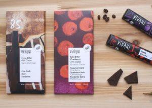 Verschiedene Sorten Vivani Schokolade