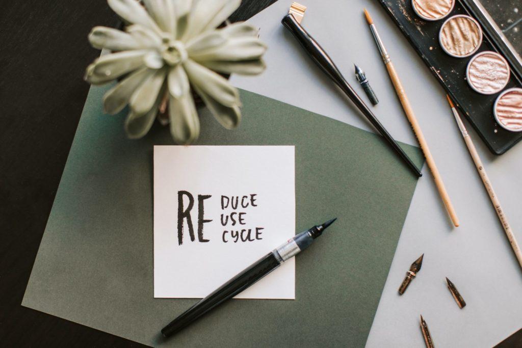 Nachhaltigkeit leben - Reduce reuse recycle