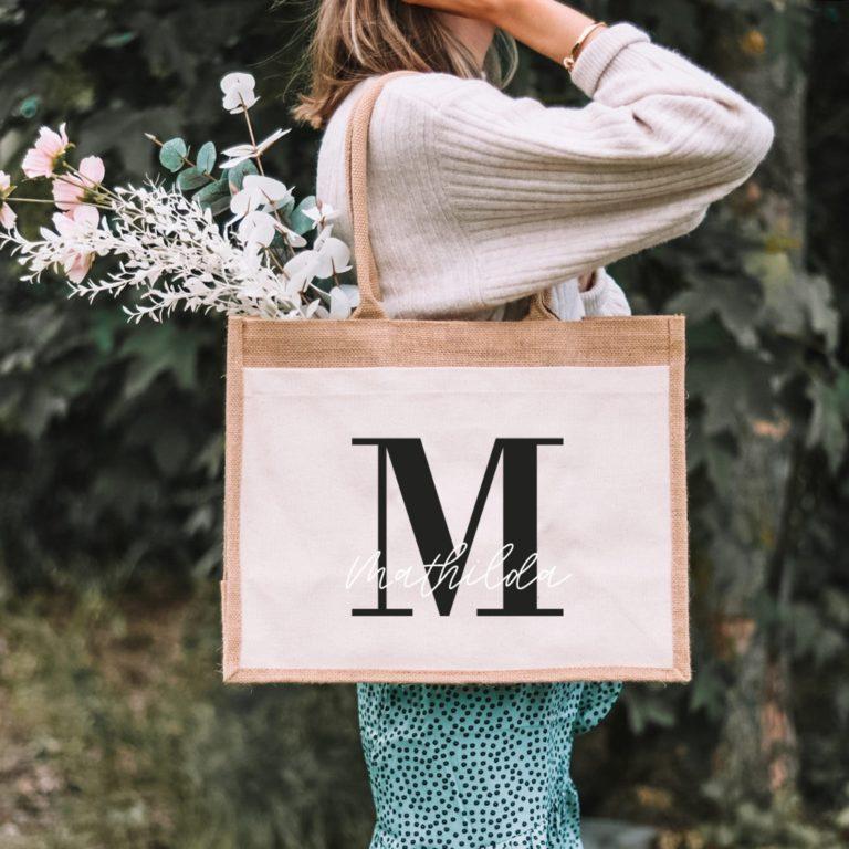 Personalisierte Einkaufstasche mit Namen