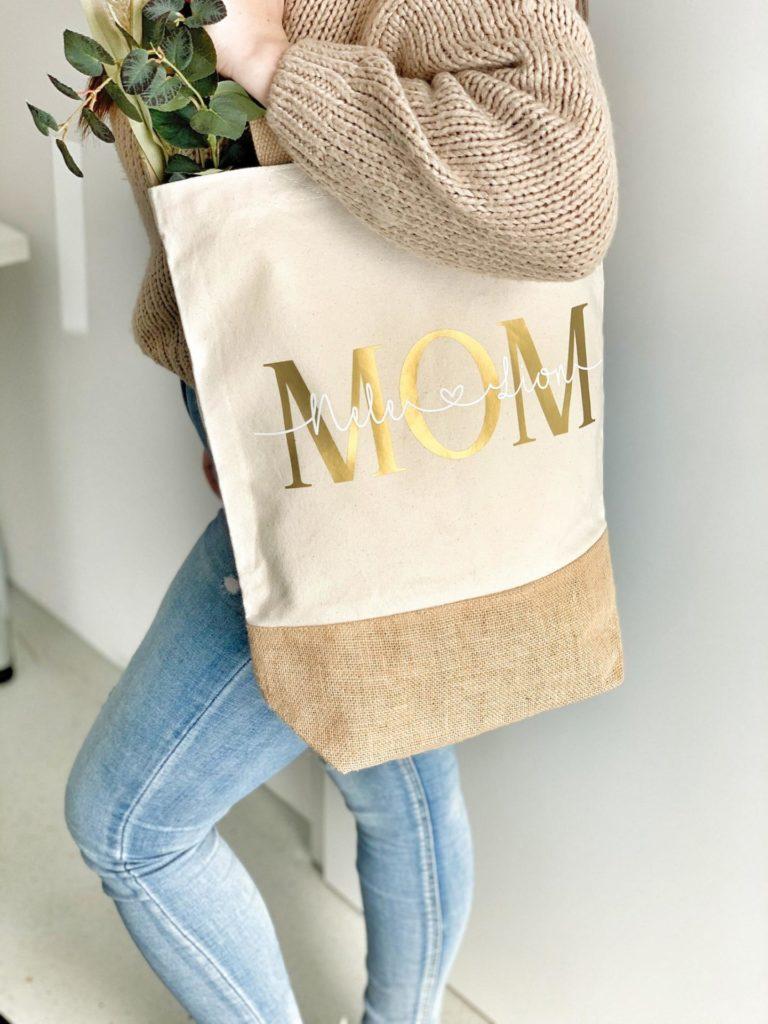 """Personalisierte Handtasche mit Schriftzug """"Mum"""""""